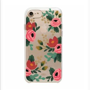Accessories - RIFLE PAPER |  Clear rose phone case